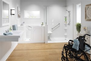 accessible bathroom and shower remodel